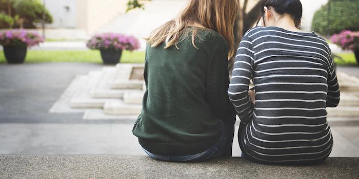 Women Talking Friendship Studying Brainstorming Concept