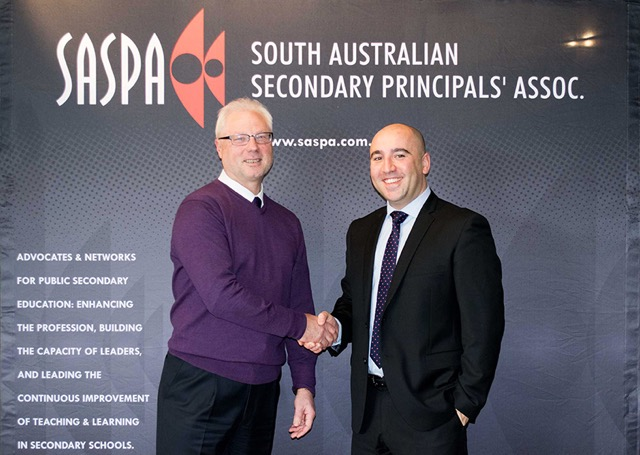 Peter Mader, SASPA President with Matthew Iadanza, CyberHound SA Regional Manager