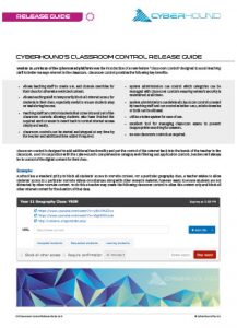 CyberHound Classroom Control Release Guide Thumbnail
