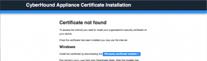 CyberHound Appliance Certificate Installation 4