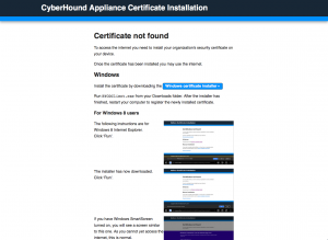 CyberHound Appliance Certificate Installation 2