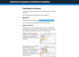 CyberHound Appliance Certificate Installation 3