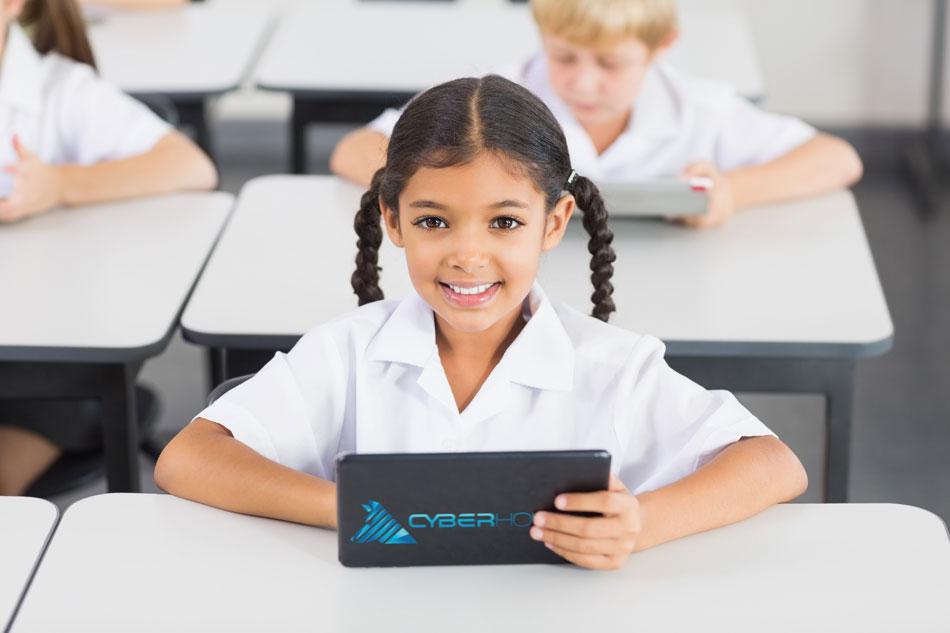 Primary school student using CyberHound